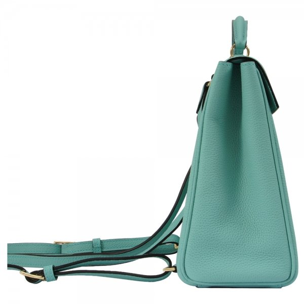 'Follow Me' collection tiffany blue togo leather backpack