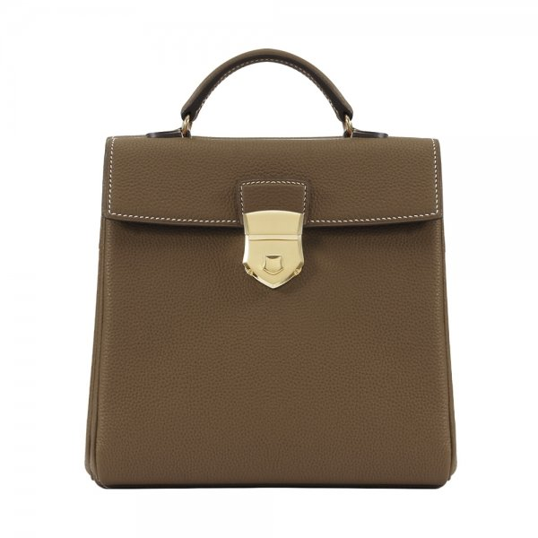 'Follow Me' collection taupe togo leather backpack