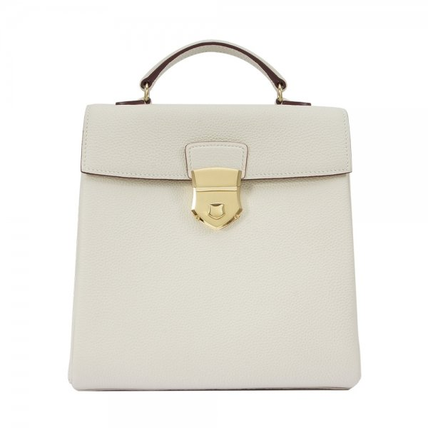 'Follow Me' collection white togo leather backpack