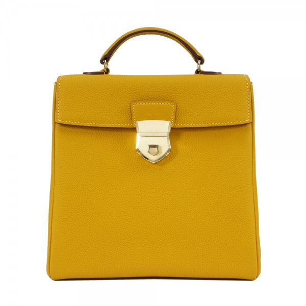 'Follow Me' collection yellow togo leather backpack