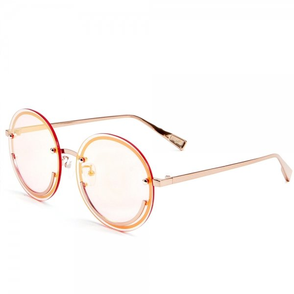 Happy Trip Pink Tinted Smiley Face Sunglasses