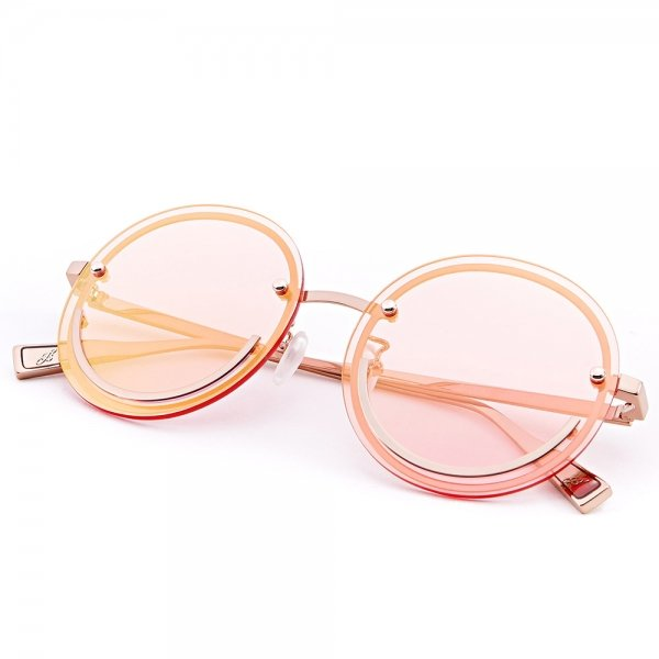 Happy Trip Pink Glasses laid on table