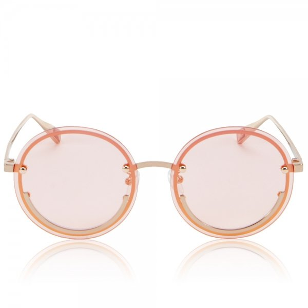 Happy Trip Pink Smiley Face Sunglasses