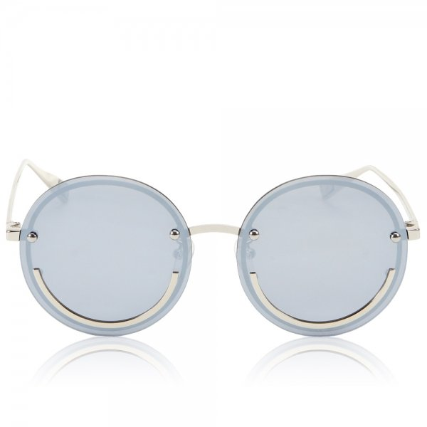 Happy Trip Blue tinted sunglasses with silver frame