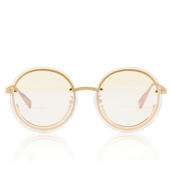 Happy Trip Clear UV glasses with metal smiley face frame