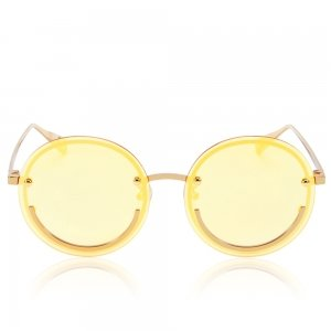 Happy Trip Yellow Tinted sunglasses with yellow gold metal frame