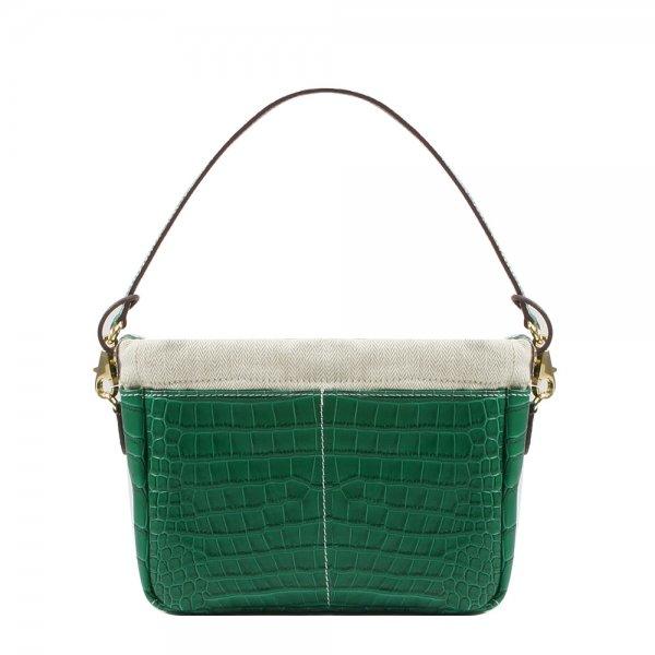 Golden Bread Croco Green Leather Bag