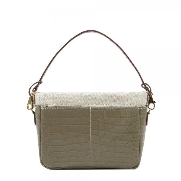 Golden Bread Croco Grey Leather Bag