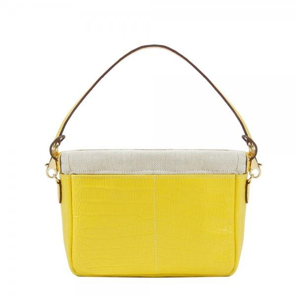 Golden Bread Croco Yellow Leather Bag